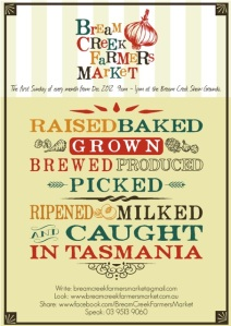 Bream Creek Farmers Market Poster 2012