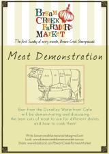Meat Demonstration at the next Market – Sunday 6 July